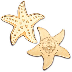 Palau 1⁄2 gram Gold $1 Starfish