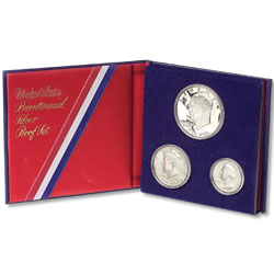 1976-S U.S. Mint 40% Silver Proof Set (3 coins), Choice Proof, PR63