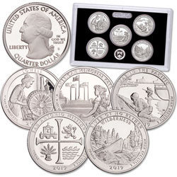 2019-S America's National Park Quarters Silver Proof Set