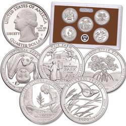 2020-S America's National Park Quarters Clad Proof Set