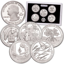 2020-S America's National Park Quarters Silver Proof Set