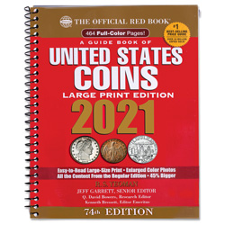 2021 Red Book - Guide Book of U.S. Coins (Large Print Softcover)