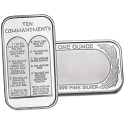 1 oz. Silver Ten Commandments Bar