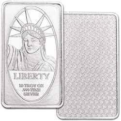 10 oz. Silver Statue of Liberty Bar