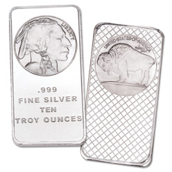 10 oz. Silver Buffalo & Indian Bar