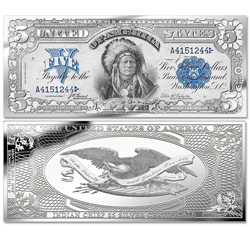 1899 Chief Running Antelope Note 4 oz. Silver Bar
