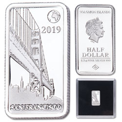 2019 Solomon Islands Silver 50 Cents Famous Landmarks - San Francisco