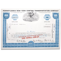 1960-70's Pennsylvania New York Central Transportation Stock