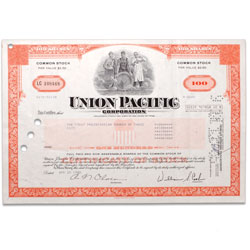 1960-1980's Union Pacific Corporation Bond