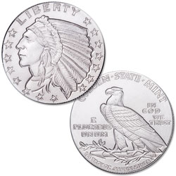 Indian Head Silver Round