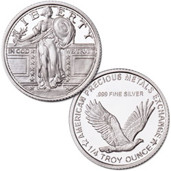 Classic Standing Liberty Silver Round