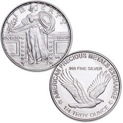 Standing Liberty 1/4 oz. Silver Round