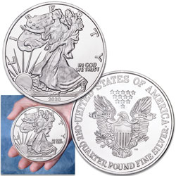 2020 4 oz. Silver American Eagle Replica