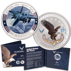 Air Force F-15E Fighter Jet 1 oz. Silver Round