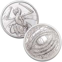 Welsh Dragon Silver Round