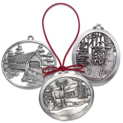 Holiday Pewter Ornament Set