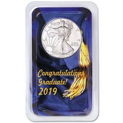 2019 Silver American Eagle in Graduation Showpak