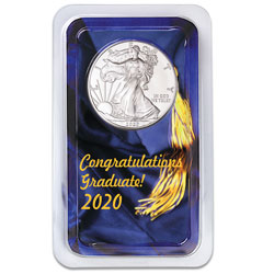 2020 Silver American Eagle in Graduation Showpak