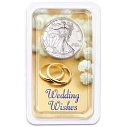 2020 Silver American Eagle in Wedding Wishes Showpak