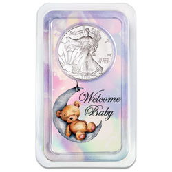 2020 Silver American Eagle in New Baby Showpak