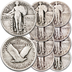 1925-1930 Standing Liberty Quarter Set