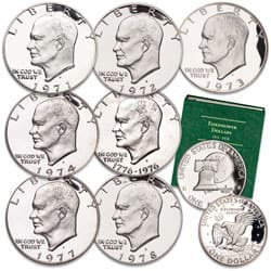 1971S-1978S Eisenhower Dollar Proof Year Set