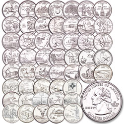 Complete Coin D Mint Statehood Quarter Set - Complete 50 state quarter set