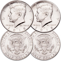 2018 P&D Kennedy Half Dollar Set