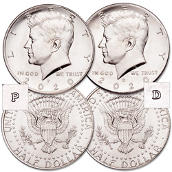 2020 P&D Kennedy Half Dollar Set