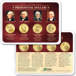 2007 Presidential Dollar Year Set in Showpak (4 coins)
