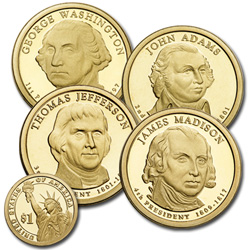 2007-S Presidential Dollar Proof Year Set