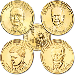 2015 Presidential Dollar P&D Mint Set