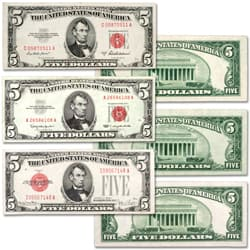 1928-1963 $5 Legal Tender Note Set
