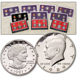 3 Different Special U S  Mint Sets (1965, 1966 & 1967), Uncirculated