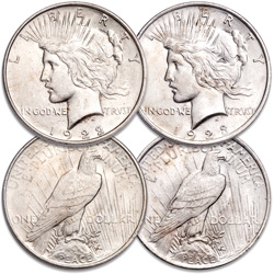 1922 & 1923 Peace Dollar Set