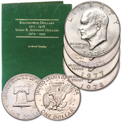 Obsolete Eisenhower Dollar Set (4 coins)
