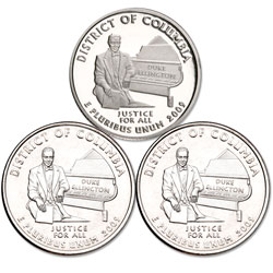 2009 PDS District of Columbia Quarter Set (3 coins)
