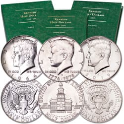 1964-2019 Kennedy Half Dollar Year Set with Albums