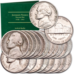 1942-1962 Jefferson Nickel Set with Folder