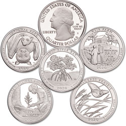 2020-S 99.9% Silver America's National Park Quarter Proofs