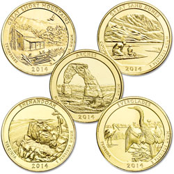 2014 Gold-Plated National Park Quarter Year Set  sc 1 st  Littleton Coin Company & 2015 Gold-Plated National Park Quarter Year Set | Littleton Coin Company