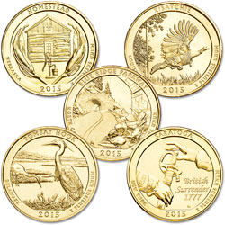 2015 Gold-Plated National Park Quarter Year Set