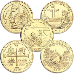 2019 Gold-Plated National Park Quarter Year Set