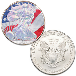 2021 Colorized & Hologram Silver American Eagle