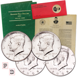 2009-2019 P&D Kennedy Half Dollar Set