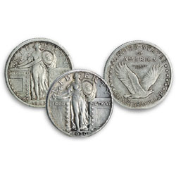 Standing Liberty Silver Quarter Type Set (2 coins), Type 1 and 2
