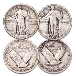 Standing Liberty Silver Quarter Type Set