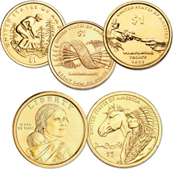 2009-2012 Native American Dollar Set (4 coins)