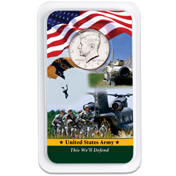 2019 Kennedy Half Dollar in U.S. Army Showpak