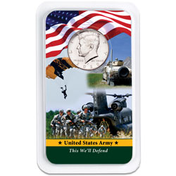 2020 Kennedy Half Dollar in U.S. Army Showpak